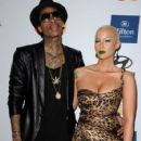 Amber Rose and Wiz Khalifa  arrive at Clive Davis and the Recording Academy's 2012 Pre-GRAMMY Gala and Salute to Industry Icons Honoring Richard Branson held at The Beverly Hilton Hotel in Beverly Hills, California - February 11, 2012 - 425 x 594