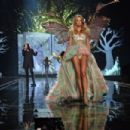 Model Eniko Mihalik walks the runway at the annual Victoria's Secret fashion show at Earls Court on December 2, 2014 in London, England