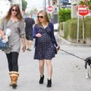 Anna Paquin taking her dog for a walk in Venice, CA (August 24) - 454 x 317