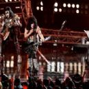 KISS perform onstage at Fashion Rocks 2014 presented by Three Lions Entertainment at the Barclays Center of Brooklyn on September 9, 2014 in New York City