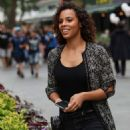 Rochelle Humes – Leaves Global Radio in London - 454 x 622