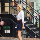 Chloe Sevigny in Black Skirt out in SoHo