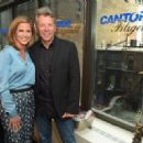 TV personality Natalie Morales and Jon Bon Jovi attend Annual Charity Day Hosted By Cantor Fitzgerald nd BGC at Cantor Fitzgerald on September 11, 2014 in New York City