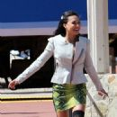 "Naya Rivera: the set of ""Glee"" in Los Angeles"