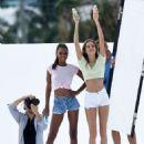 Jasmine Tookes and Josephine Skriver – Photoshoot in Miami - 454 x 606