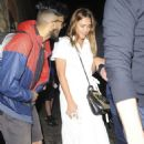 Jessica Alba in White Dress – Out in London
