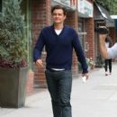 Orlando Bloom is spotted out and about in Beverly Hills, California on July 8, 2015