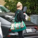 Sophie Turner – Heads to the gym in West Hollywood