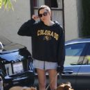 Aubrey Plaza in Shorts – Out in Los Angeles