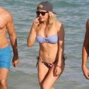 Ellie Goulding with boyfriend Dougie Poynter on Miami Beach January 5,2015 - 454 x 577