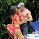 Roxanne Pallett and boyfriend Jason Carrion were seen at a pool party in Manhattan - 454 x 672