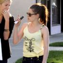 Kristen Stewart Shopping at Balenciaga Store Feburary 23, 2012