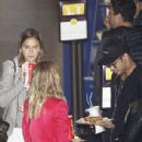 Barcelona superstar Neymar enjoys a night out at the cinema with girlfriend Bruna Marquezine as suspension rules him out of Atletico Madrid clash - 306 x 435