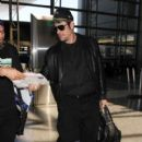 Benicio Del Toro is seen at LAX on April 12, 2016