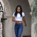 Karrueche Tran In Tight Jeans Out In West Hollywood