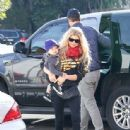 Fergie and Josh Duhamel with son Axl at Breakfast