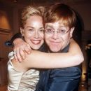 Sharon Stone & Elton John in Cannes - 1998