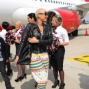 Amber Rose attends the Launch of Virgin America's First Flight from Los Angeles to Philadelphia at Los Angeles International Airport in Los Angeles, California - April 4, 2012 - 454 x 594