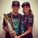 The singer posted this picture on Instagram as she celebrated Hamilton being crowned world champion
