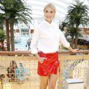 Lena Gercke christens the AIDAperla cruise ship in Palma de Mallorca - 454 x 681