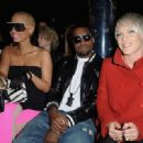 Amber Rose and Kayne West attend the Stella McCartney Ready-to-Wear A/W 2009 fashion show during Paris Fashion Week at Carreau du Temple in Paris, France -  March 9, 2009