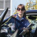 Dakota Johnson – Goes to a friend's house in Los Angeles