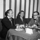 George Balanchine, Tanaquil LeClercq, and Truman Capote at the El Morocco Club