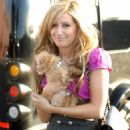 Ashley Tisdale Out With The Puppy In NYC On October 22 2007