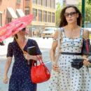 Famke Janssen in Summer Dress – Out in New York