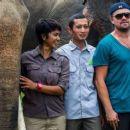 Leonardo DiCaprio at the Indonesia rainforest