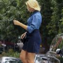 Holly Willoughby in Jeans Skirt – Out in Sydney - 454 x 669