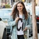 Lily Collins at Gratitude in Beverly Hills - 454 x 681