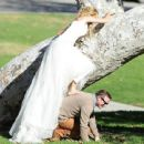 Brandi Glanville gives new meaning to the term 'blushing bride' as a series of  mishaps mar her bridal shoot