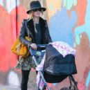 Nicky Hilton is spotted pushing her daughter Lily Grace in a stroller in New York City, New York on October 14, 2016 - 413 x 600