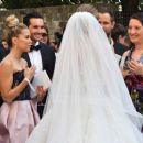 Sylvie Meis at Victoria Swarovski wedding in the San Giusto church in Trieste - 454 x 370