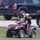 Selena Gomez At Atv Riding In Canada