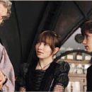 Billy Connolly (Uncle Monty), Emily Browning (Violet), and Liam Aiken (Klaus) in Paramount Pictures' Lemony Snicket's A Series of Unfortunate Events, also starring Jim Carrey and Meryl Streep.
