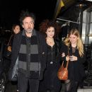 Tim Burton, Helena Bonham Carter and Rose Bonham Carter attend the launch party of Lulu Guinness and Rob Ryan's Fan Bag at Air Gallery on November 10, 2010 in London, England