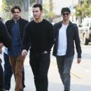 Joe & Kevin Jonas meet some friends for lunch in Los Angeles, California on January 9, 2015 - 454 x 553