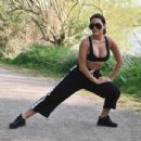 Yazmin Oukhellou – Morning Workout Stretching In LA