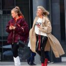 Christie Brinkley with her daughter arriving to the Knicks vs Heat Basketball game in NYC - 454 x 528