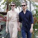 Anne Hathaway and fiance Adam Shulman out in NYC (July 12)