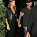 Adam Levine and Behati Prinsloo leaving Mr. Chow's in Beverly Hills (September 30)