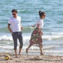 Alessandra Mastronardi and Ross McCall on the beach in Fregene - 454 x 303
