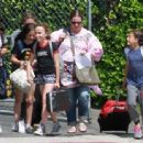 Melissa McCarthy out with her daughters and their friends in Los Angeles, California on April 04, 2017 - 454 x 337