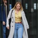Kimberley Walsh – Exits Radio 5 studio in London - 454 x 707