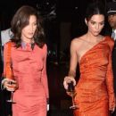 Bella Hadid and Kendall Jenner in Red Dress – Leaving the George V Hotel in Paris