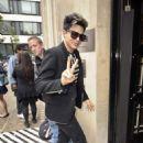 Adam Lambert arriving at BBC Radio 2 in London, UK (June 27)