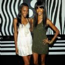 Models Jaunel McKenzie and Quiana Grant attend the alice + olivia by Stacey Bendet M.A.C. Cosmetics collection launch at Beauty Bar on July 14, 2010 in New York City - 454 x 656