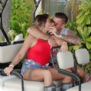 Katie Price and boyfriend Carl Woods on holiday in the Maldives - 454 x 576
